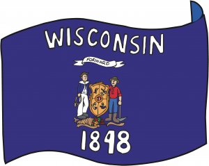 Wisconsin State Flag Wall Decal