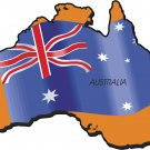 Australia Country Map Flag Wall Decal