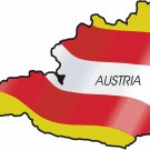 Austria Country Map Flag Wall Decal