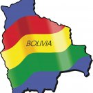 Bolivia Country Map Flag Wall Decal