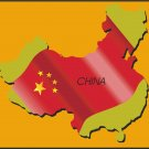 China Country Map Flag Wall Decal