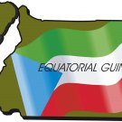 Equatorial Guinea Country Map Flag Wall Decal