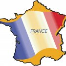 France Guinea Country Map Flag Wall Decal