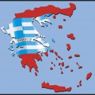 Greece Country Map Flag Wall Decal