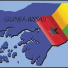 Guinea-Bissau Country Map Flag Wall Decal