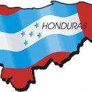 Hoduras Country Map Flag Wall Decal