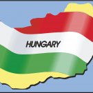 Hungary Country Map Flag Wall Decal
