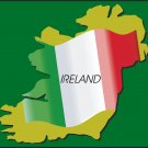 Ireland Country Map Flag Wall Decal