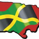 Jamaica Country Map Flag Wall Decal