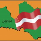 Latvia Country Map Flag Wall Decal