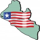 Liberia Country Map Flag Wall Decal
