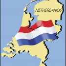 Netherlands Country Map Flag Wall Decal