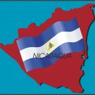 Nicaragua Country Map Flag Wall Decal