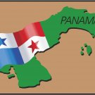 Panama Country Map Flag Wall Decal