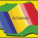 Romania Country Map Flag Wall Decal