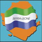 Sierra-Leone Country Map Flag Wall Decal
