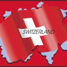 Switzerland Country Map Flag Wall Decal