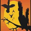 Parrots Sunset Vector Art on Canvas