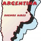 Argentina Country Map Wall Decal