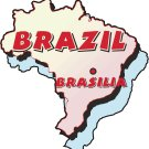 Brazil Country Map Wall Decal