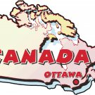 Canada Country Map Wall Decal