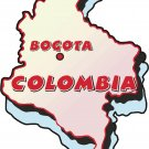 Colombia Country Map Wall Decal