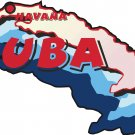 Cuba Country Map Wall Decal