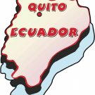 Ecuador Country Map Wall Decal