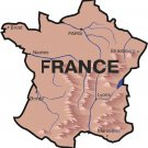 France Realistic Country Map Wall Decal