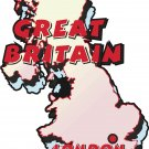 Great Britain Country Map Wall Decal