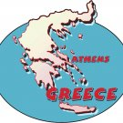 Greece Country Map Wall Decal