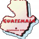 Guatemala Country Map Wall Decal