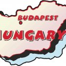 Hungary Country Map Wall Decal