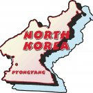 North Korea Country Map Wall Decal