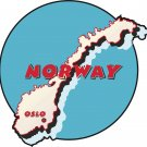 Norway Country Map Wall Decal