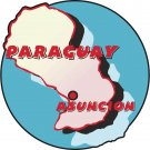 Paraguay Country Map Wall Decal