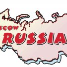 Russia Country Map Wall Decal