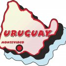 Uruguay Country Map Wall Decal