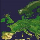 Europe Earth As Art on Canvas