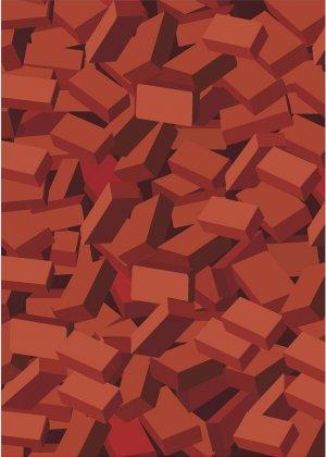Brick Pile Pattern Wall Decal