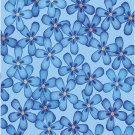 Flowers Blue Pattern Wall Decal