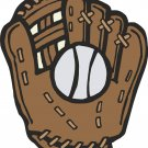 Baseball Ball and Glove Wall Decal