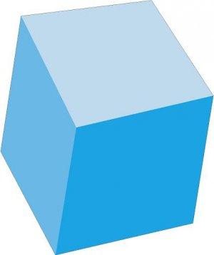 Block Blue Wall Decal