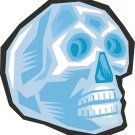 Gem Skull Blue Wall Decal