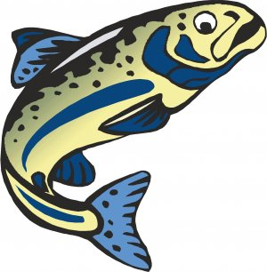 Trout Blue Wall Decal