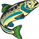 Trout Teal Wall Decal