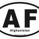 Afghanistan Oval Car Sticker
