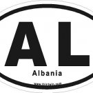 Albania Oval Car Sticker