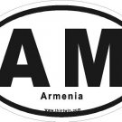 Armenia Oval Car Sticker
