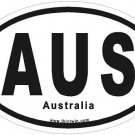 Australia Oval Car Sticker